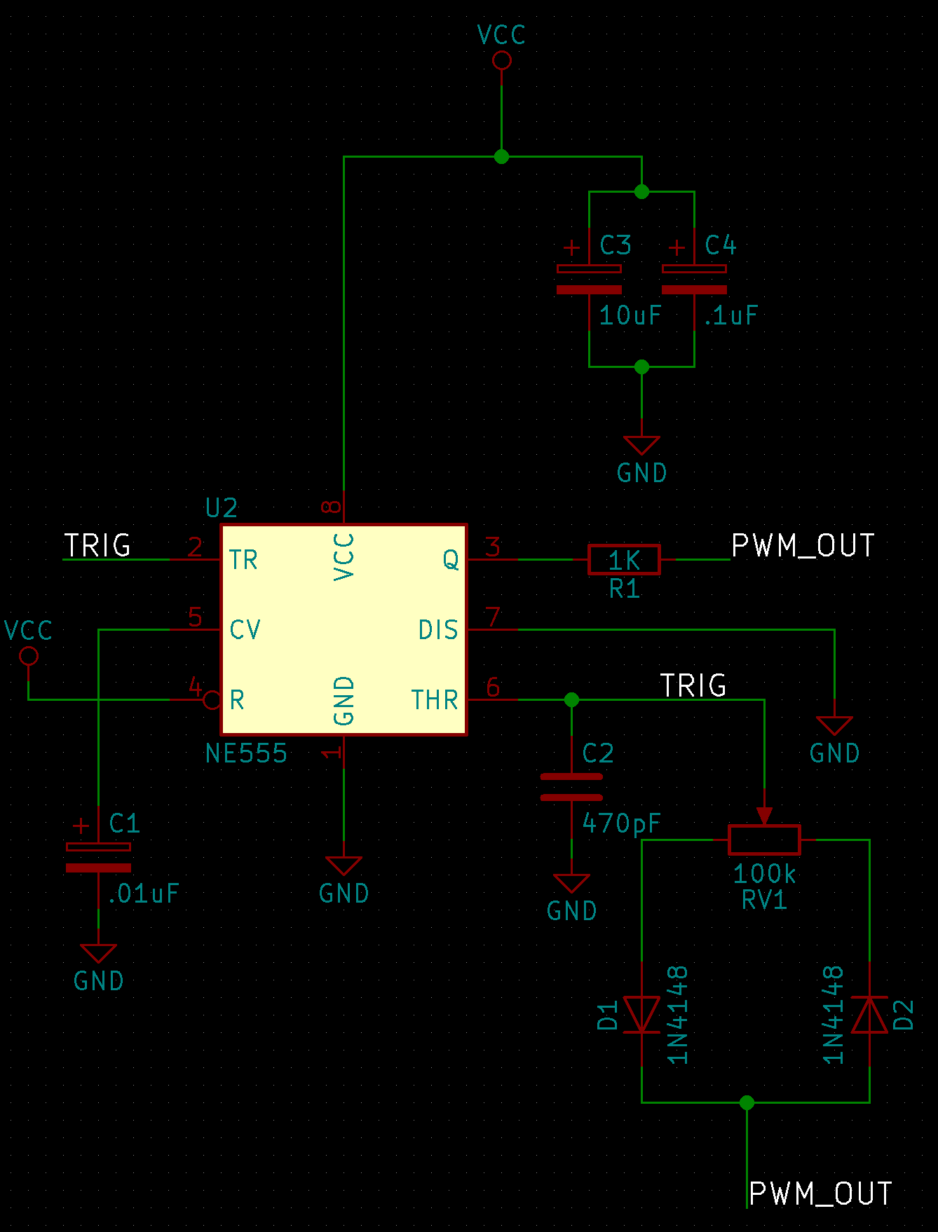 Building A Manual Pwm Fan Controller Through Flatland To Thoughtland Temperature Controlled Regulator Electronic Circuits And The Circuit Needed Have An Output Frequency Of 25 Khz Operate At 5 Volts Given This I Settled On
